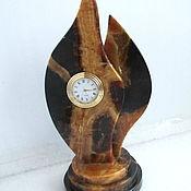 Для дома и интерьера ручной работы. Ярмарка Мастеров - ручная работа Часы настольные из симбирцита, натурального природного. Handmade.