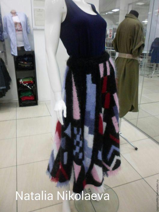 Юбки ручной работы. Ярмарка Мастеров - ручная работа. Купить Тёплая юбка из мохера в стиле Бохо.Ручная работа.. Handmade.