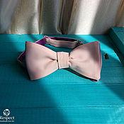 Ties handmade. Livemaster - original item Tie samosas bilateral (fuchsia & pink). Handmade.