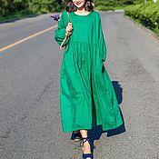 Одежда ручной работы. Ярмарка Мастеров - ручная работа Зеленое длинное платье. Handmade.