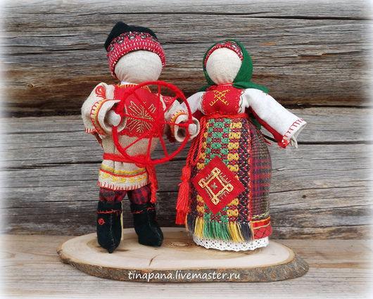 """Народные куклы ручной работы. Ярмарка Мастеров - ручная работа. Купить """"Разговор по душам"""". Handmade. Кукла из ткани, вместе, семья"""