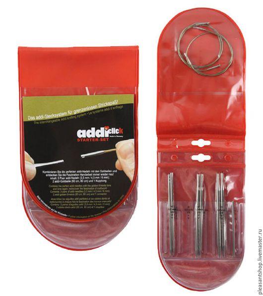 Вязание ручной работы. Ярмарка Мастеров - ручная работа. Купить Набор спиц системы addiClick Starter-set 1. Handmade.