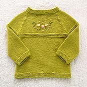 """Работы для детей, ручной работы. Ярмарка Мастеров - ручная работа Джемпер """"Зелёная лужайка"""". Handmade."""