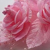 Материалы для творчества ручной работы. Ярмарка Мастеров - ручная работа Бутоньерка розовая  140 х 95 мм. Handmade.