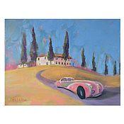 Картины и панно handmade. Livemaster - original item Pictures: Dolce vita.  Landscape with villa. Italian landscape. Handmade.