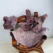Куклы и игрушки ручной работы. Ярмарка Мастеров - ручная работа Платье и шляпка для мишки. Handmade.