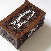 Шкатулки ручной работы. Ярмарка Мастеров - ручная работа Шкатулка резная деревянная с фотографией. Handmade.