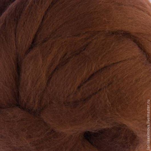 Валяние ручной работы. Ярмарка Мастеров - ручная работа. Купить Австралийский меринос18мк цвет Кора. Handmade. Коричневый, цвет кора
