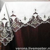 Для дома и интерьера ручной работы. Ярмарка Мастеров - ручная работа Скатерть с кружевной вышивкой. Handmade.