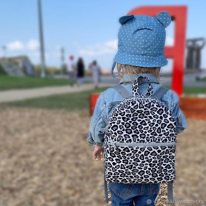 Детский рюкзак из хлопка Лео, размер M, Сумки, Магнитогорск, Фото №1