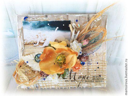 """Открытки на все случаи жизни ручной работы. Ярмарка Мастеров - ручная работа. Купить Открытка """" Море"""". Handmade. Разноцветный"""