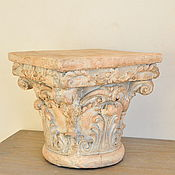 Дача и сад handmade. Livemaster - original item Stand-pedestal part of the column concrete Provence, under the flowers. Handmade.