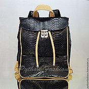 Сумки и аксессуары handmade. Livemaster - original item Backpack Python INSIGNIA. Handmade.