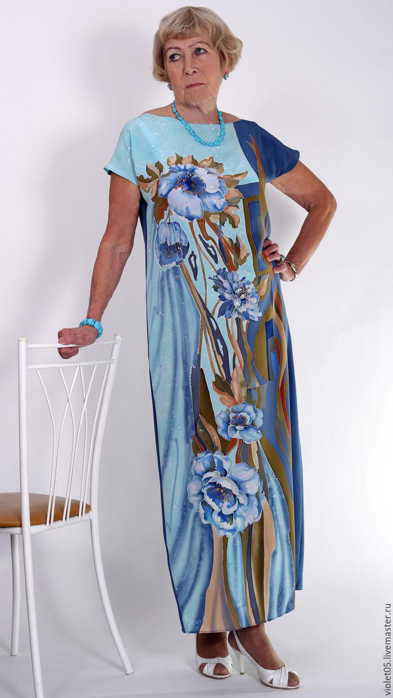 Платье батик по шелку