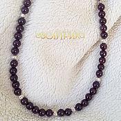 Украшения handmade. Livemaster - original item Garnet Beads Silver. Handmade.
