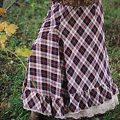 Одежда ручной работы. Ярмарка Мастеров - ручная работа Дуэт юбок в клетку, БОХО, кантри. Handmade.