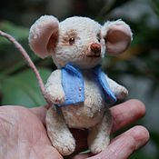 Куклы и игрушки ручной работы. Ярмарка Мастеров - ручная работа Мышонок тедди Вольфганг. Handmade.