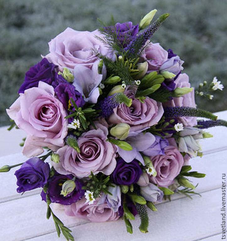 Лесных, красивые фиолетовые букеты цветов
