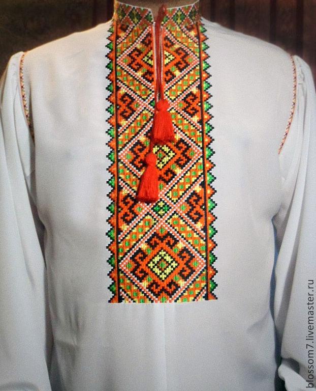 Ручная вышивка на рубашках