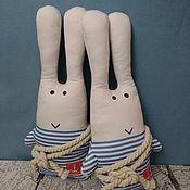 Куклы и игрушки handmade. Livemaster - original item Arctic hare sailor 45 cm couple. Handmade.