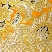 Ткани ручной работы. Ярмарка Мастеров - ручная работа Японский шелковый гобелен/парча. Handmade.