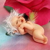 """Куклы и игрушки ручной работы. Ярмарка Мастеров - ручная работа """"Спящий Эльф и Роза"""". Handmade."""