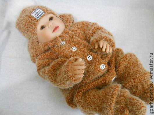 """Для новорожденных, ручной работы. Ярмарка Мастеров - ручная работа. Купить Комплект для новорожденных """"Ах-Мишутка"""". Handmade. Однотонный"""
