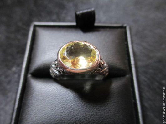Кольца ручной работы. Ярмарка Мастеров - ручная работа. Купить Авторское орнаментальное кольцо с лимонно-желтым цитрином из Шри-Ланки. Handmade.