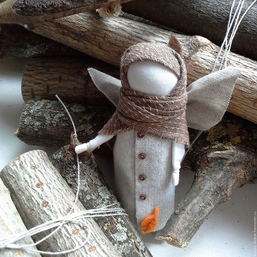 Народные куклы ручной работы. Ярмарка Мастеров - ручная работа. Купить Осенний ангел. Handmade. Оранжевый, осень, Осенний ангел
