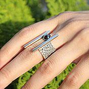Украшения handmade. Livemaster - original item Luxe ring with onyx made of 925 sterling silver IV0039. Handmade.