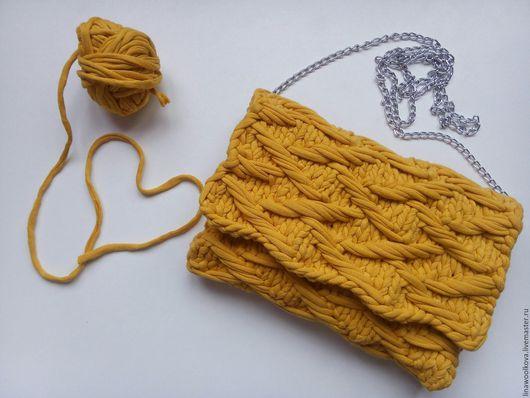 Женские сумки ручной работы. Ярмарка Мастеров - ручная работа. Купить Вязаная сумка,вязаный клатч. Handmade. Оранжевый