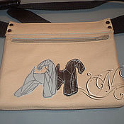 Сумки и аксессуары handmade. Livemaster - original item Fanny pack NAT.leather