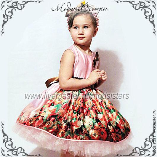 """Одежда для девочек, ручной работы. Ярмарка Мастеров - ручная работа. Купить Платье """"Диана"""" Арт.237. Handmade. Коричневый"""