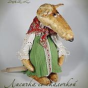 Куклы и игрушки ручной работы. Ярмарка Мастеров - ручная работа Лисичка со скалочкой или .... Handmade.