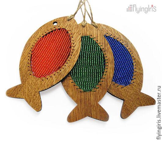 """Куклы и игрушки ручной работы. Ярмарка Мастеров - ручная работа. Купить Набор для бисероплетения """"Рыбки RGB"""". Handmade. Комбинированный, рыбки"""
