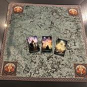 Фен-шуй и эзотерика handmade. Livemaster - original item Tablecloth for divination 60h60 cm. velvet. Handmade.