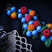 Браслет из бусин ручной работы. Ярмарка Мастеров - ручная работа Ягодный браслет. Handmade.