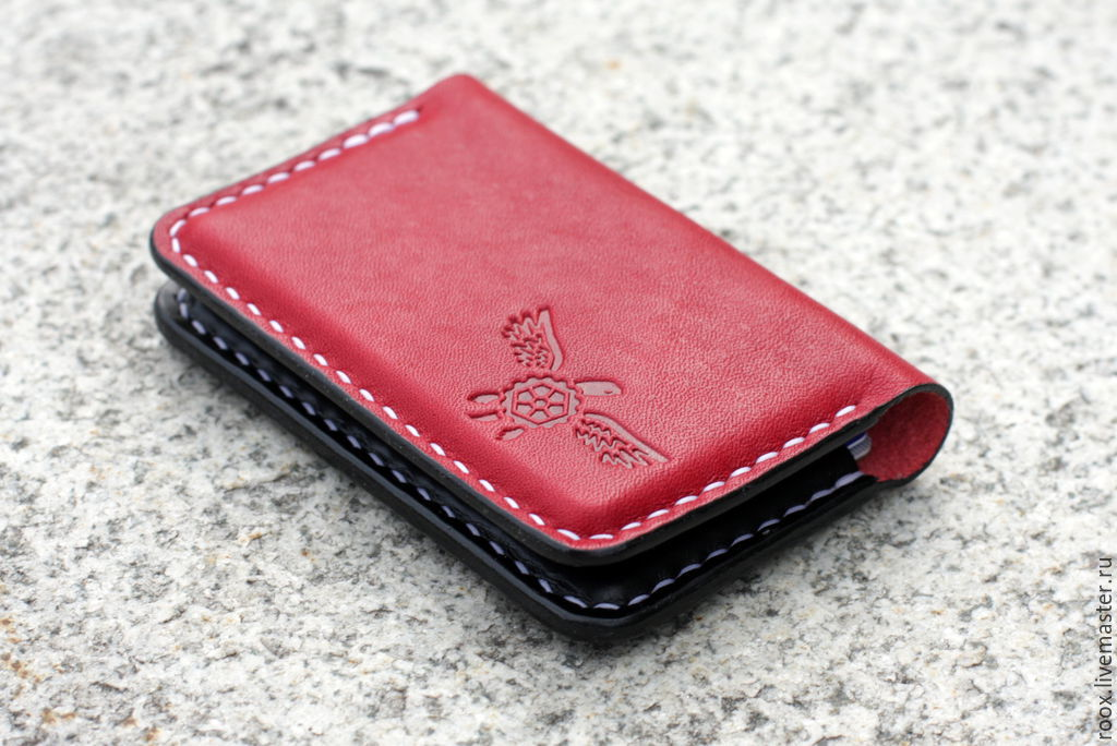 Business card holder made from Horween leather ( card case ) – shop ...