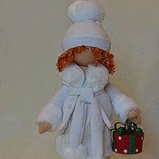 Куклы и игрушки ручной работы. Ярмарка Мастеров - ручная работа подарок 2013 зимняя девочка. Handmade.