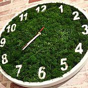 Дизайн и реклама handmade. Livemaster - original item The clock of Moss. Handmade.