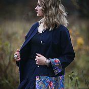 """Одежда ручной работы. Ярмарка Мастеров - ручная работа Жакет """"Синий иней"""". Handmade."""