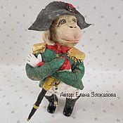 Подарки к праздникам ручной работы. Ярмарка Мастеров - ручная работа обезьян из ваты Наполеон. Handmade.