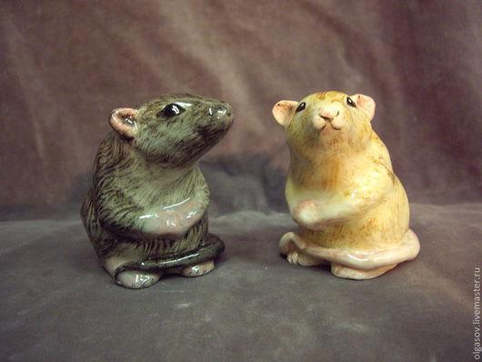 Элементы интерьера ручной работы. Ярмарка Мастеров - ручная работа. Купить крыска. Handmade. Фаянс, мелкая пластика, Керамика