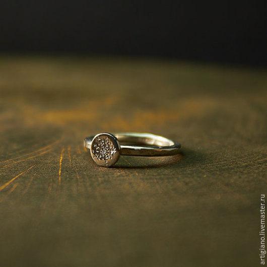 Кольца ручной работы. Ярмарка Мастеров - ручная работа. Купить Кольцо Месяц и звёзды. Handmade. Месяц, кольцо из серебра 925