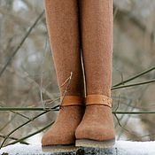"""Обувь ручной работы. Ярмарка Мастеров - ручная работа Валяные сапожки """"Кора"""". Handmade."""