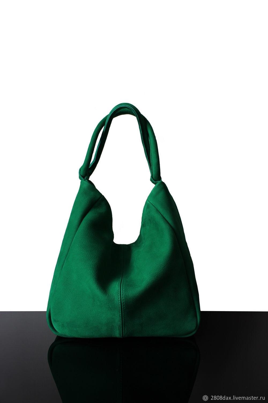 a522e7460e00 Женские сумки ручной работы. Ярмарка Мастеров - ручная работа. Купить  Зеленая замшевая сумка- ...