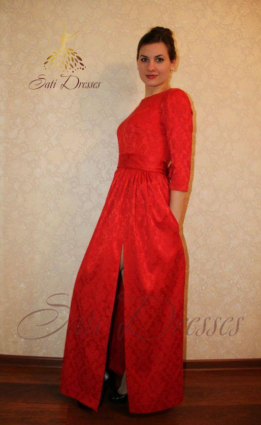 Платья ручной работы. Ярмарка Мастеров - ручная работа. Купить Платье в пол с разрезом. Handmade. Платье в пол, красивое платье