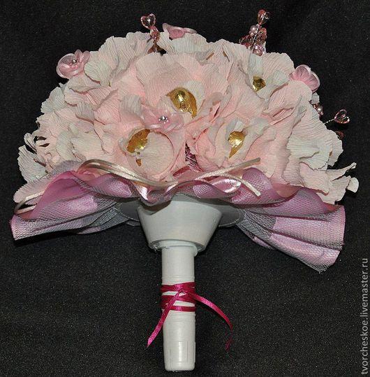 """Букеты ручной работы. Ярмарка Мастеров - ручная работа. Купить """"Букетик невесты"""". Handmade. Бледно-розовый, сладкий букет"""