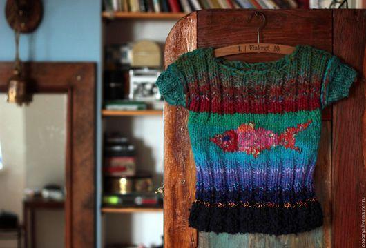 Кофты и свитера ручной работы. Ярмарка Мастеров - ручная работа. Купить рыба твоя. Handmade. Вязайн, одежда для детей