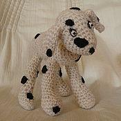 Куклы и игрушки ручной работы. Ярмарка Мастеров - ручная работа Вязаная собака далматинчик. Handmade.
